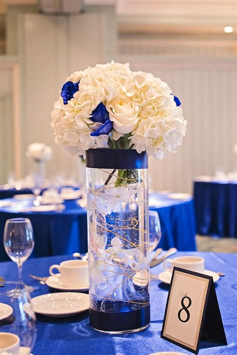 blue wedding table centerpieces ipunya