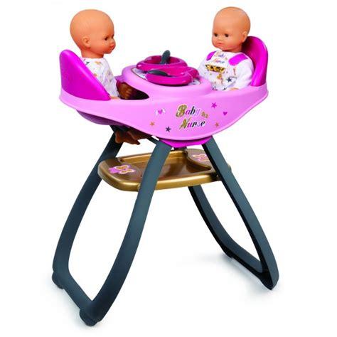 chaise haute smoby chaise haute pour poup 233 es baby jumeaux jeux et