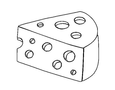 Imagenes Para Pintar Queso | dibujo de queso gruyer para colorear dibujos net