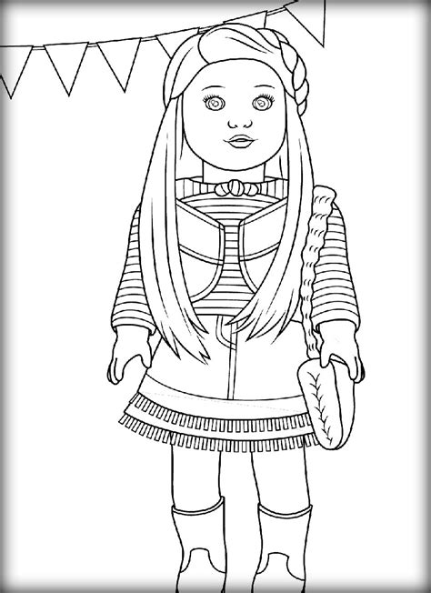 American Girl Doll Coloring Pages Coloringsuite Com American Julie Coloring Pages