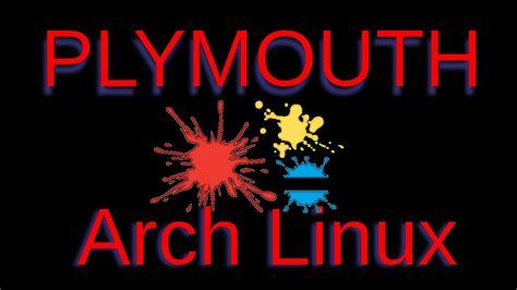 splash plymouth arch linux splash screen plymouth