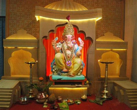 ganpati decoration ideas  home ganpati decor