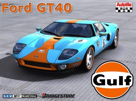gulf gt40 trackmania carpark 2d skins gt40 gulf