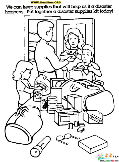 house safety coloring pages 日常情景简笔画9张图片 第9张