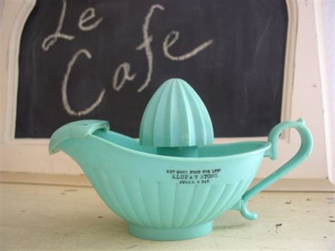 Aqua Juicer vintage aqua turquoise juicer reamer store advertisement advertising i and vintage