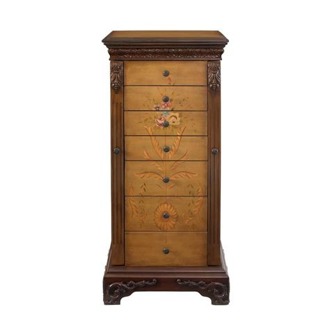 jewelry armoire antique powell masterpiece antique parchment hand painted jewelry