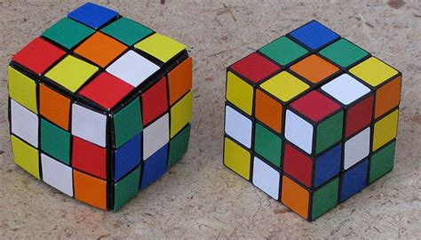 Origami Rubiks Cube - origami rubik s cube and a real one artist daniel brown