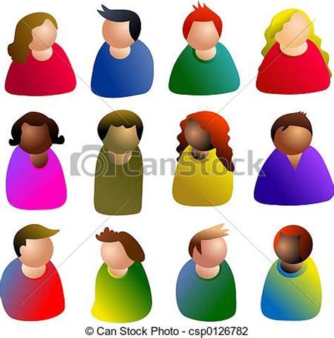 clipart persone clipart di persone icona persone diversit 224 csp0126782