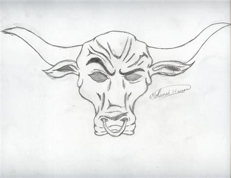 brahma bull tattoo bull the rock pencil and in color bull