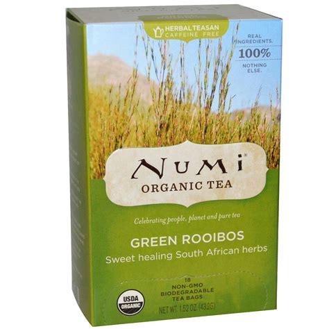 numi tea organic tea green rooibos caffeine free 18