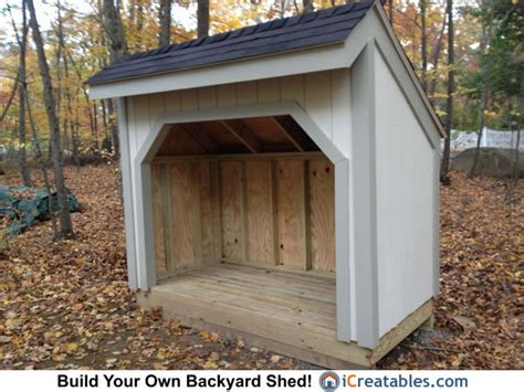 4x8 Sheds by 4x8 Firewood Shed Plans Outdoor Garden Sheds Icreatables