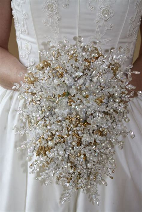Wedding Bouquet Vintage Brooches by Bridal Bouquets Without Flowers For Non Traditional Brides