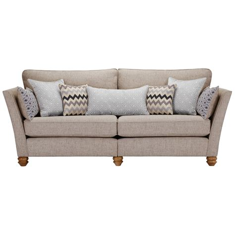 oak furniture land sofa gainsborough 4 seater sofa in silver oak furniture land