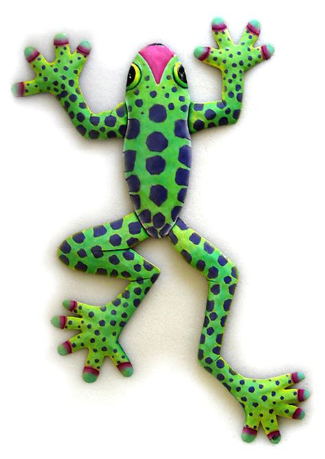 frog home decor frog hand painted metal frogs for your tropical decorating