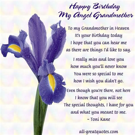 Happy Birthday To My In Heaven Quotes Happy Birthday Quotes For Grandma In Heaven Image Quotes