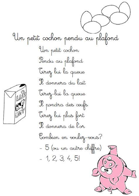 Trois Petit Cochon Pendu Au Plafond by Comptine Un Petit Cochon Pendu Au Plafond Paroles