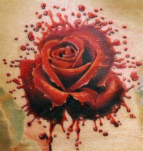 bloody tattoo designs of blood splash by phil garcia tattooimages biz