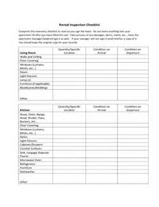 rental walk through template rental walk through sle form free