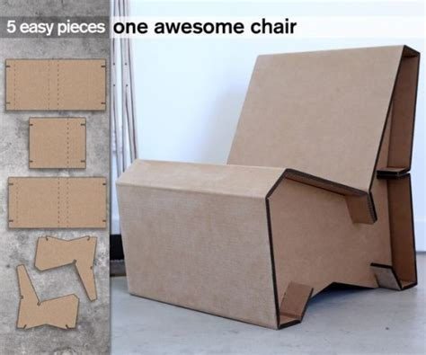 chair template made out of cards diy household cardboard furniture ideas diy craft ideas