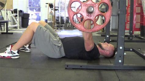 elliott hulse bench press max strength c ecoach floor press youtube