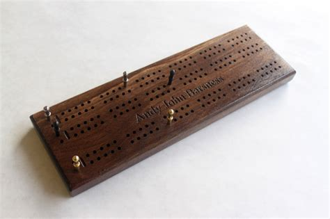 Crib Board by Engraved 3 Track Cribbage Board