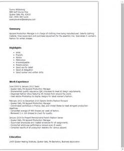 production manager description template professional apparel production manager templates to