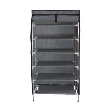 Jual Rak Sepatu Aluminium Jogja jual rakita rs006 aluminium cover 6 ruang rak sepatu abu