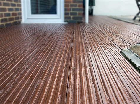Plastic Wood Decking 120 x 20mm x 3m Trade