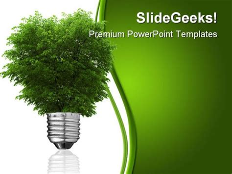 Renewable Energy Concept Metaphor Powerpoint Template 0810 Green Energy Powerpoint Template