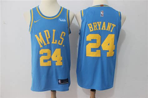 Jersey Authentic Nike Bryant Lakers Black Nba Stitched Jersey Sz nike nba los angeles lakers 24 bryant new rev30 swingman throwback blue jersey