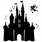 Disney Castle Silhouette With Tinkerbell | 488 x 488 jpeg 15kB