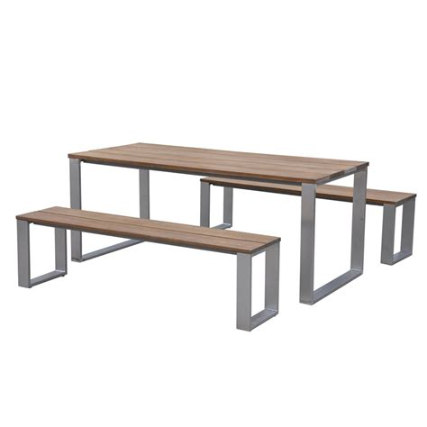 garden bench bunnings mimosa 3 piece ancona timber bench setting bunnings