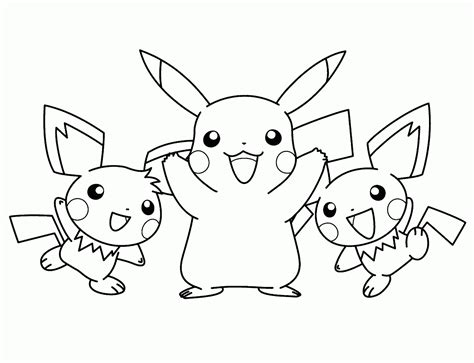 pokemon coloring pages pichu pikachu and satoshi quot pokemon quot coloring pages