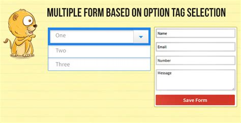 design form select create multiple form fields based on selection using