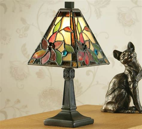 lelani mini tiffany table lamp floral traditional