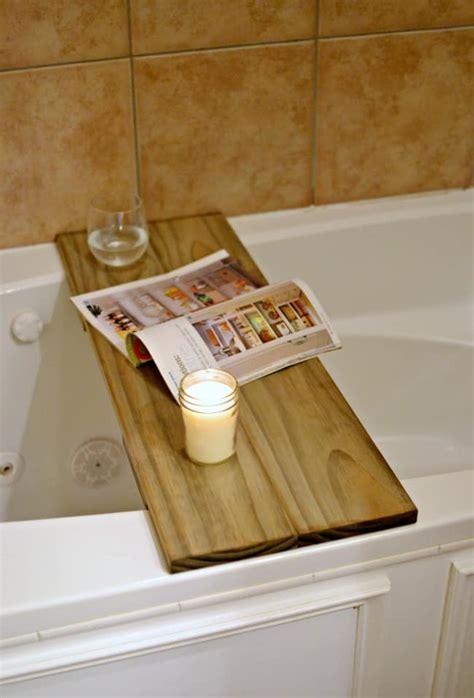bathtub table diy bathtub table shelf this girl s life blog