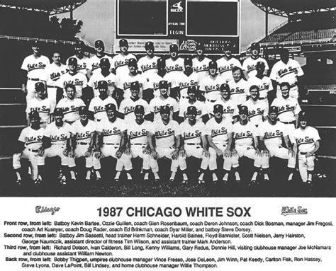 thedeadballera 1987 chicago white sox team photo