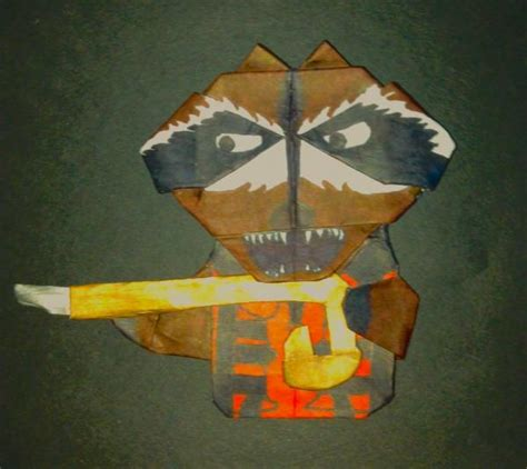 Origami Raccoon - rocket raccoon origami yoda