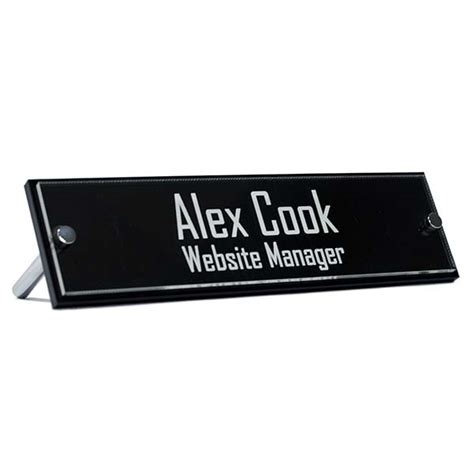 clear acrylic desk name plates printable desk name plates acrylic desk nameplates from