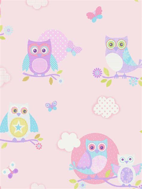tapete kinderzimmer rosa babyzimmer tapete eulen vliestapete pastell rosa eule