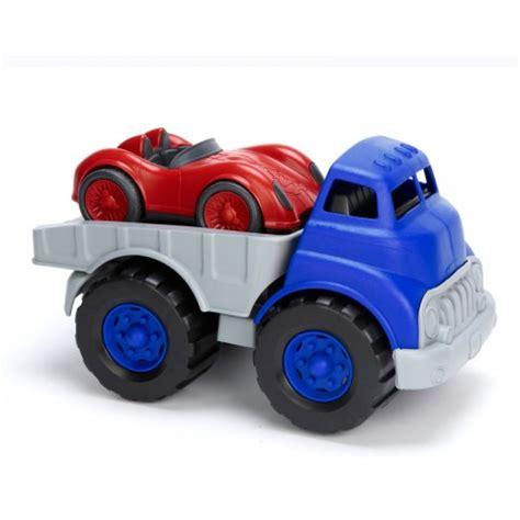 speelgoed ecocheques laadtruck met racer 1j green toys kudzu eco webshop
