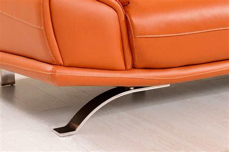 Modern Orange Leather Sectional Sofa Ef533 Leather Orange Leather Sectional Sofa