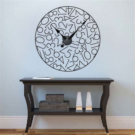 unique clocks unique clocks clock decals trendy wall designs