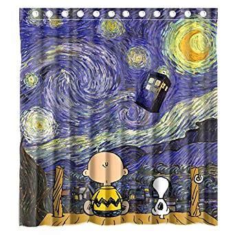 com custom cute snoopy with starry night tardis