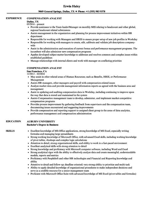 Workers Compensation Manager Sle Resume by Compensation Analyst Resume Sles Velvet