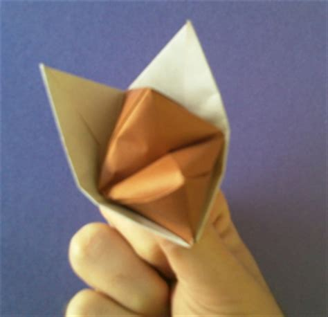 Fox Puppet Origami - how to make an origami fox puppet