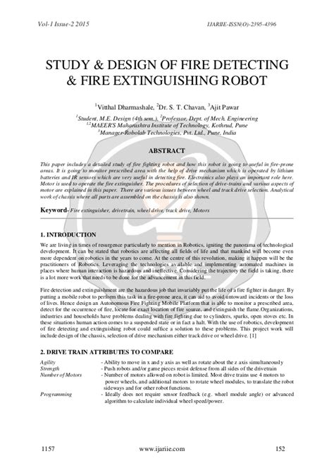 I Robot Analysis Essay by Study Design Of Detecting Extinguishing Robot