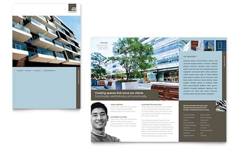 Commercial Real Estate Brochure Template by Real Estate Templates Brochures Flyers Newsletters