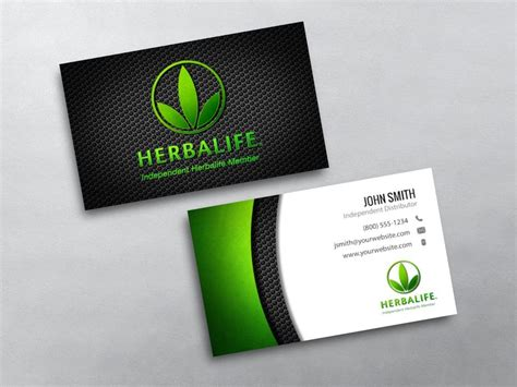 herbalife business card template herbalife business cards