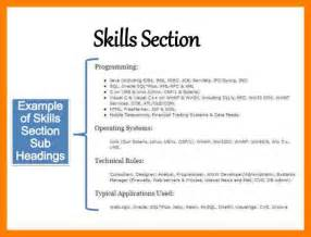 Skills Section Of Resume Exle by 8 Resume Skills Section Exle Bibliography Formated